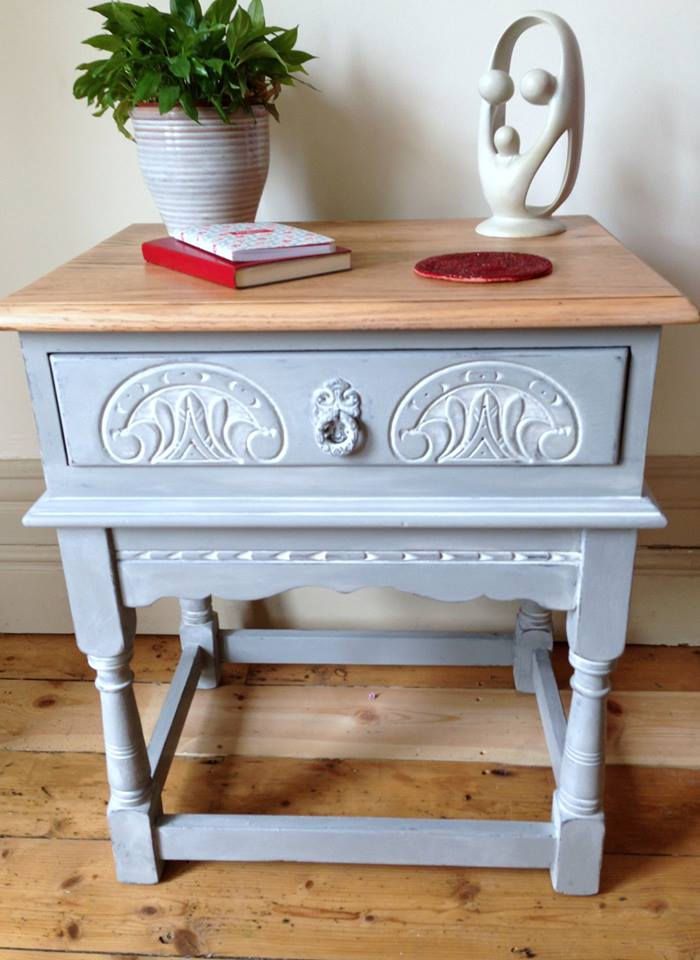 Pretty features on the original stand out so much more with a lick of chalk paint